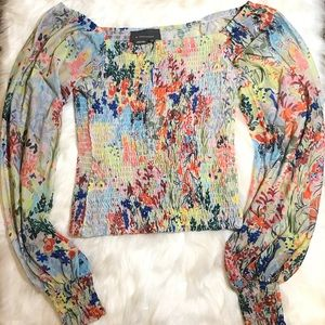 ANTHROPOLOGIE Womenswear Floral Print Long sleeves